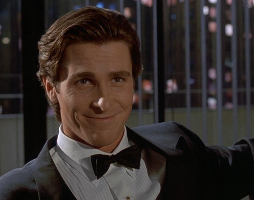 Christian Bale American Psycho Haircut